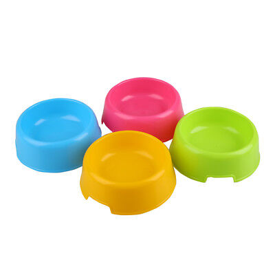Pet Cat Dog Lovely Plastic Feed Drink Water Dish Food Bowl Travel Feeder
