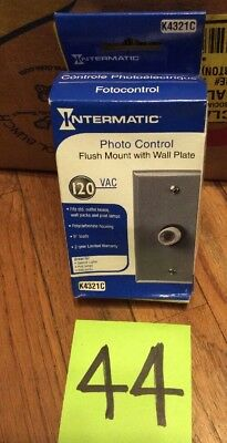 Intermatic K4321C Photo Control Flush Mount with Wall Plate