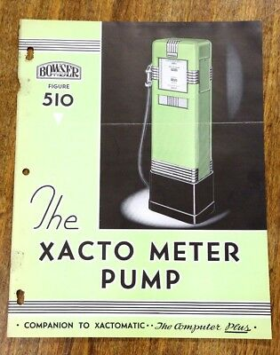 1936 Bowser Xacto Meter Gas Pump 510 Paper Advertising Page Fort Wayne, IN Old