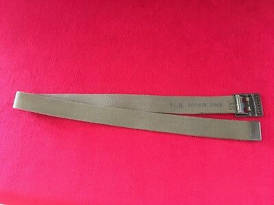 Original WW2 U.S. Army EM Trouser Belt with Brass Buckle Size 36- Dated 1943