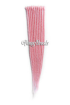 Pastel Pink Single Ended Faux Loc Synthetic Dreadlocks Extension 20""