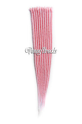 """Pastel Pink Single Ended Synthetic Dreadlock Extensions 20"""""""