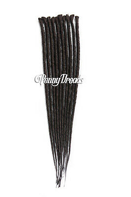 Dark Brown Single Ended Synthetic Dreadlock Extensions 20""