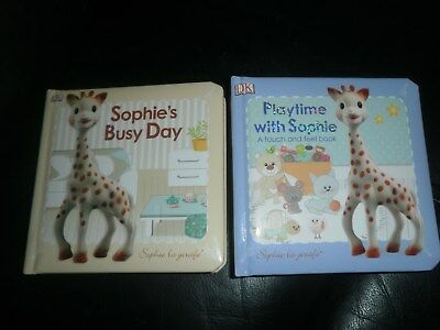 Lot 2 Toddler Books Sophie La Girafe by DK Touch N Feel Playtime Busy Day GUC