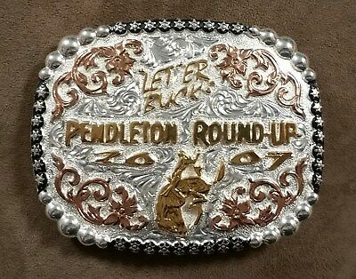 """Pendleton Round-Up """"LET'ER BUCK""""Buckle2007 Bucking Horse by Vaquero"""