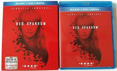 Red Sparrow Blu Ray + Dvd 2 Disc Set & Slipcover Sleeve Free World Shipping