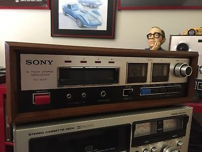 1973 Sony 8-Track Stereo Record Deck - real wood Professional Restoration