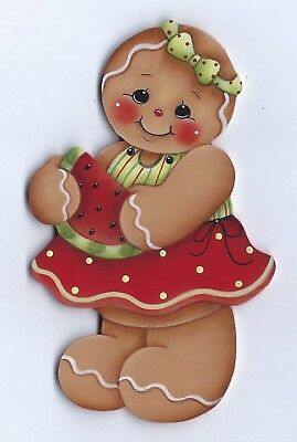 HP GINGERBREAD Girl with Watermelon FRIDGE MAGNET