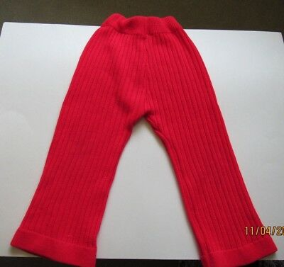 True Vintage Children's SHOWUPS Size 5 Sweater Type Pants Red