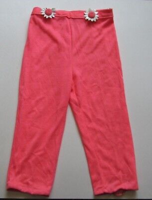 True Vintage Children's Bright Coral Colored Pants With Daisies Material