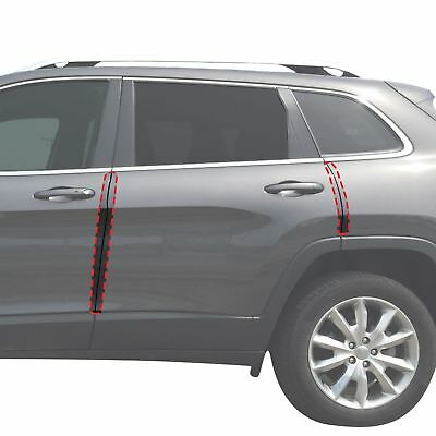 2014-18 fits Jeep Cherokee 4pc Invisible Door Edge Guards Pre-Cut Custom Clear