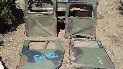A Lot 7 Green Soft Doors for Military HMMWV M998 Humvee with some hardware : humvee doors - pezcame.com