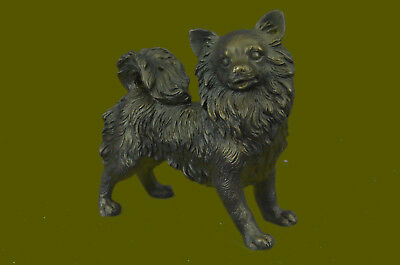 POMERANIAN marble statue figurine sculpture Lost Wax Hot Cast Bronze Home Deco