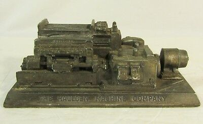 Vintage Advertising Paperweight for Hallden Machine Company