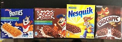 Cereal Snack Bar ( Frosties, Nesquik, Chocapic and Choco Pops)