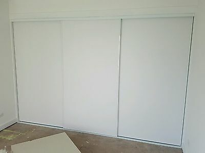 SALE Custom made White Vinyl Sliding Doors