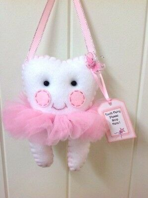 Tooth Fairy Pillow-Pink/Purple Butterfly-Lost Tooth/Money Goes IN Back Pocket