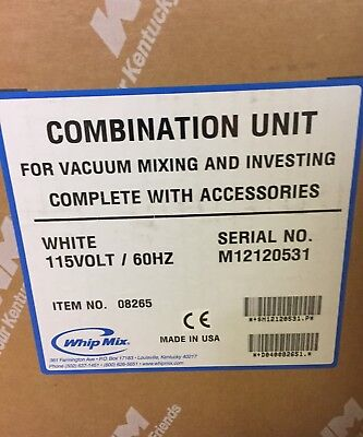 NEW Whipmix Dental Combination Unit #08265 (FREE SHIPPING)