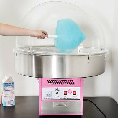 """NIB Carnival King CCM28 Cotton Candy Machine 28"""" Stainless Steel Bowl - 110V"""