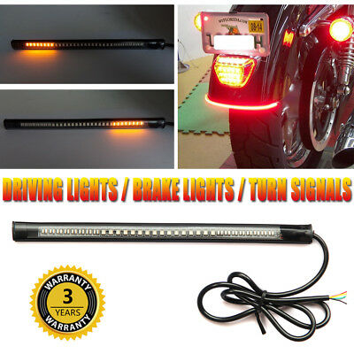 Flexible 48 LED SMD Strip Motorcycle Car Tail Turn Signal Brake Stop Light 12V
