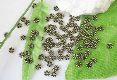 700pcs Antiqued Bronze Daisy Spacers Beads 5mm C304B