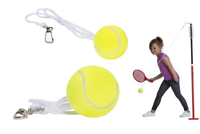 Backyard Totem Tennis Replacement Balls and String Packs of 1-3 Tennis Trainer