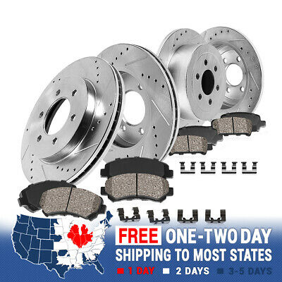 Front Rear Rotors Ceramic Pads For 2003 2004 2005 2006 2007-2009 4Runner GX470