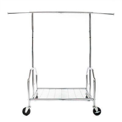 Heavy Duty Commercial Clothing Garment Rolling Collapsible Rack Hanger Mesh Rack