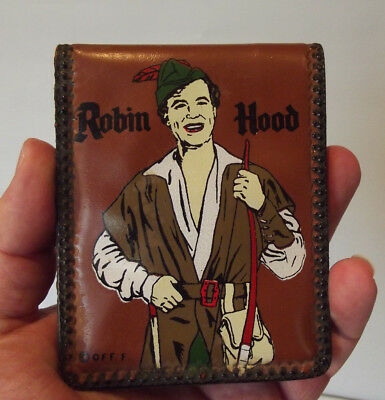 Vintage Robin Hood Vinyl Plastic Wallet Bifold with Free Shipping
