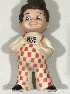 "Vintage 1973 BOBs BIG BOY Burger Advertising 9"" Toy Rubber Still Coin Piggy Bank"