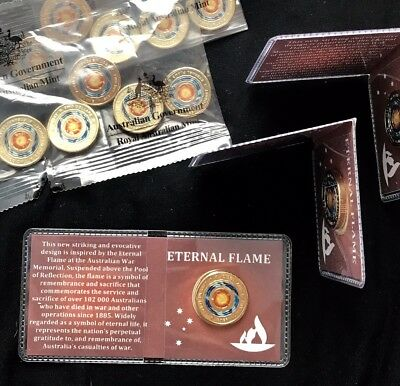 2018 $2 Eternal Flame Coin New Unc From Mint Bag In Special Coin Flip Ltd Qty
