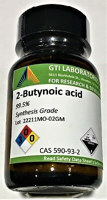 2-Butynoic acid, 99.5%, Synthesis Grade, 2g