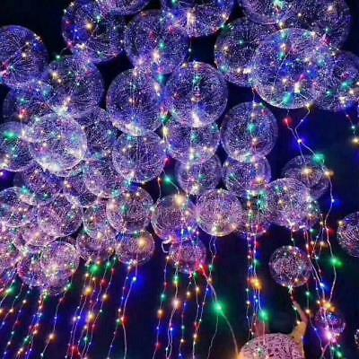 Xmas Light Up Balloons Glow in the Dark LED Wedding Birthday Party DecorationsGY