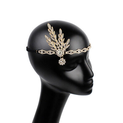 Great Gatsby 1920S Flapper Headpiece Crystals Pearls Replica Bridal Headband【US】