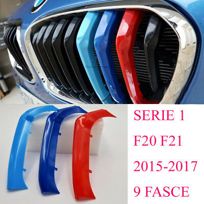 3x Bmw SERIE 1 F20 F21 2015> M sport cover griglie fasce Calandre front grill m1