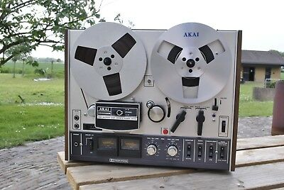 *Near Mint* AKAI 4000DB Dolby-NR 4 Track Reel to Reel Tape recorder NEW CABINET
