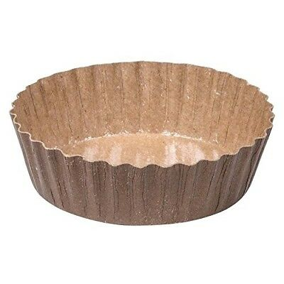 Solut 91068 5.7 oz. Corrugated Kraft Baking Cup with Extruded Polymer Coating