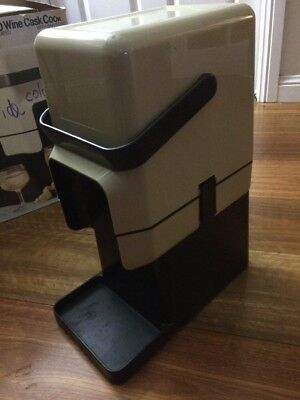 DECOR INSULATED BYO WINE CASK COOLER with BAR STAND ~ BEIGE ~ BRAND NEW in BOX