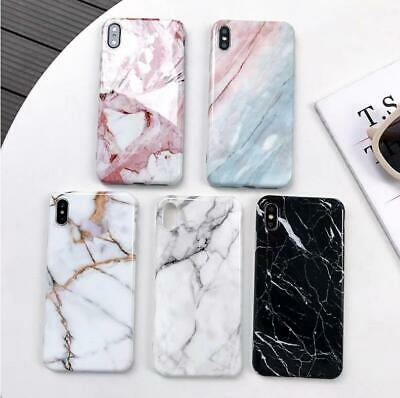 For iPhone 6 6s 7 8 Plus Soft Marble Case TPU Gel Silicone Slim Shockproof Cover