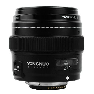 YONGNUO YN100mm F2N AF MF Large Aperture Telephoto Prime Lens For Nikon Camera