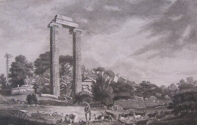 After GIOVANNI PANINI (1691-1765), Engraving, ANCIENT CLASSICAL RUINS, c. 1740