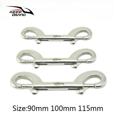 90-115MM Scuba Dive Stainless Steel Double Ended Snap Bolt Buckle Trigger Hook