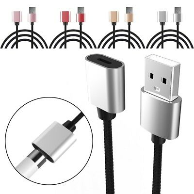 Braid USB To 8Pin Female Charging Cable Cord For 9.7 10.5 12.9 Pro Pencil iPad