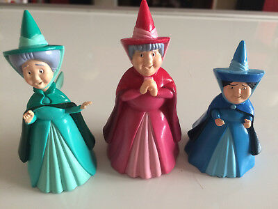 Disney Sleeping Beauty 3 x Fairy Figures Ideal For Cake Toppers