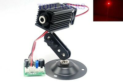 Focusable 200mw 650nm Red Dot Laser Diode Locator Module w Holder + TTL + Fan