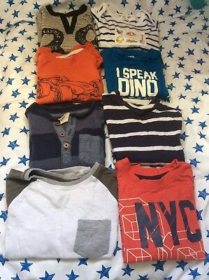 8 Long Sleeved Toddler Boys T-Shirts in GC