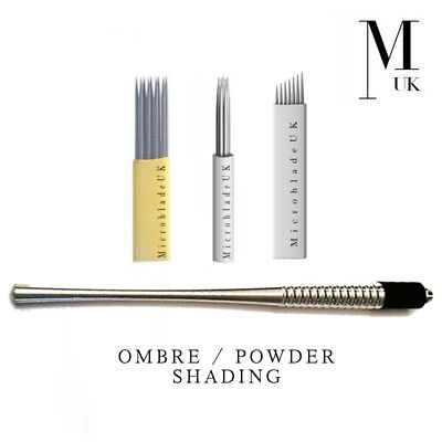 MICROBLADING / OMBRE Powder Brow Set 21 Shader Bunch Needle Double Row Blade