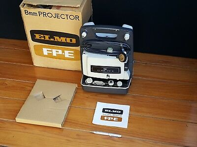 boxed Vintage Elmo 8mm Projector FP-E Made In Japan  w/ manual