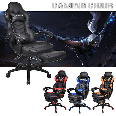 Racing Gaming Chair Ergonomic High Back Computer Office Chair Recliner Footrest