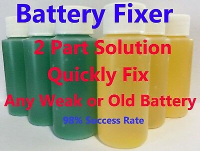 Forklift BATTERY REPAIR LIQUID Solution- 36 Volt Hawker Deka Crown (36 Bottles)